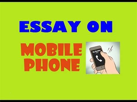Essay about Use of Mobile Phones By Students